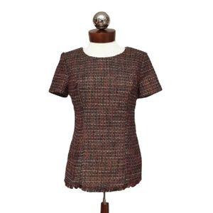 Stitch fix 41 hawthorne Karius Tweed Blouse S